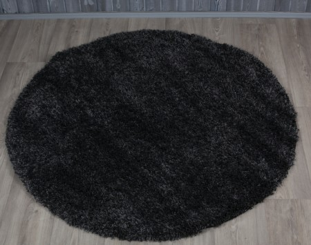 Pyöreä matto SUPER SHAGGY HARMAA